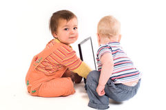 Baby tech support Royalty Free Stock Images
