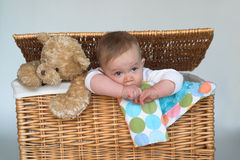 Baby and Teddy Royalty Free Stock Images