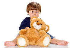 Baby with teddy bear Royalty Free Stock Photo