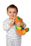 Baby and teddy bear Royalty Free Stock Photos