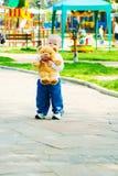 Baby with teddy bear Stock Photos
