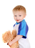 Baby with Teddy Bear Stock Image