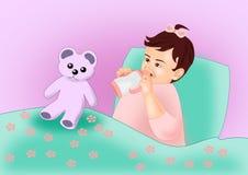 Baby and Teddy Bear Stock Photos