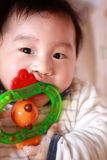 Baby teething Stock Photo