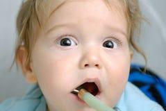 Baby teething Royalty Free Stock Image