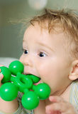 Baby teething Royalty Free Stock Images