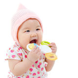 Baby teething Royalty Free Stock Image