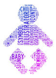 Baby text clouds Stock Photography