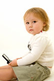 Baby texting Royalty Free Stock Photos