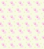 Baby texture. Texture with yellow background, flowers and pigs Royalty Free Stock Photos