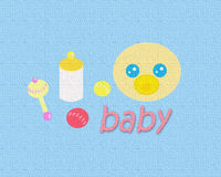 Baby Texture_Blue Stock Images