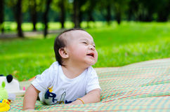 Baby in tha park Royalty Free Stock Image