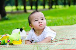 Baby in tha park Royalty Free Stock Photos