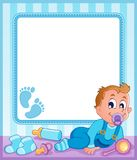 Baby theme frame 1 Royalty Free Stock Photos