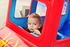 Baby in theme park Royalty Free Stock Photos