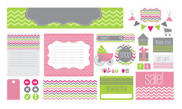 Baby theme website elements. Various elements for a baby themed website Royalty Free Stock Image