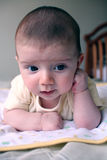 Baby thinking. Portrait of thoughtful baby boy Stock Photos