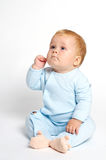 Baby thinking Stock Photography