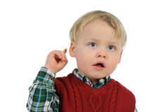 Baby thinking Royalty Free Stock Images