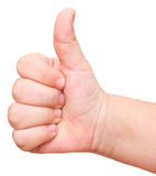 Baby thumbs up Stock Photo