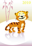 Baby tiger on winter landscape. Royalty Free Stock Photos