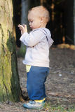 Baby or toddler in forest Royalty Free Stock Photo