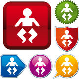 Baby toilet icon Royalty Free Stock Images