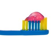 Baby toothbrush Stock Photo