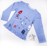 Baby top with polka Royalty Free Stock Images