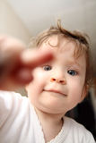 Baby touches you Royalty Free Stock Photography