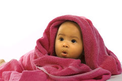 Baby in the Towel Royalty Free Stock Photo