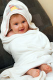 Baby in towel after bath Royalty Free Stock Photo