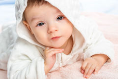 Baby on towel Royalty Free Stock Image