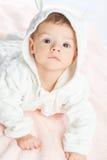 Baby on towel Stock Image