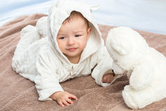 Baby on towel Royalty Free Stock Photo
