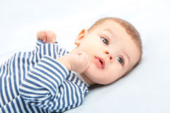 Baby on towels Royalty Free Stock Photos