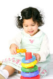 Baby with toy. Baby girl with educational toy Stock Photos