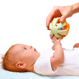 Baby with toy Stock Photo