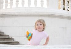 Baby with a toy Royalty Free Stock Photos