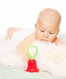 Baby and the toy Royalty Free Stock Image