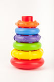 Baby toy. Baby's colorful hoop toy isolated Stock Image