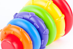 Baby toy. Baby's colorful hoop toy Royalty Free Stock Photos