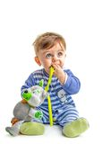 Baby with toy stock photography