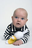 Baby with toy stock photos