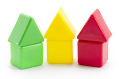 Baby toy blocks. Isolated on white background stock image