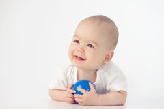 Baby with a toy Stock Photo