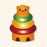 Baby toy brick tower theme elements Royalty Free Stock Photography