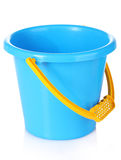 Baby toy bucket. Over the white Stock Images