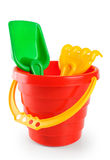 Baby toy bucket and shovel rake Stock Photography