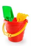 Baby toy bucket and shovel rake Stock Photography